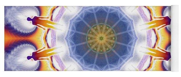 Cosmic Spiral Kaleidoscope 34 Yoga Mat