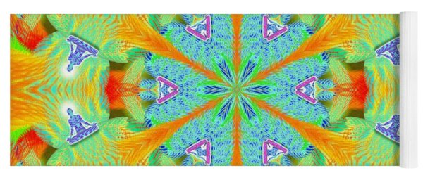 Cosmic Spiral Kaleidoscope 41 Yoga Mat
