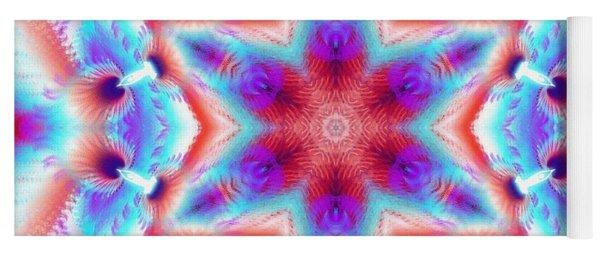 Cosmic Spiral Kaleidoscope 45 Yoga Mat