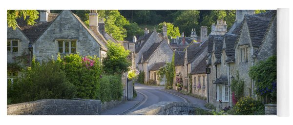 Yoga Mat featuring the photograph Cotswold Village by Brian Jannsen