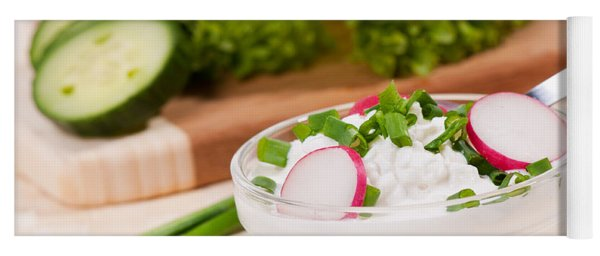 Cottage Cheese With Radish And Chives  Yoga Mat