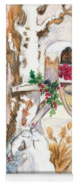 Country Christmas Mail  Yoga Mat