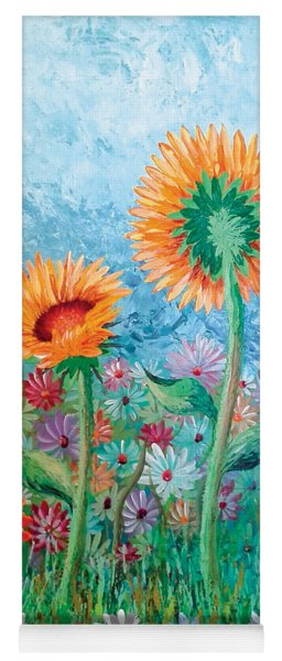 Courting Sunflowers Yoga Mat