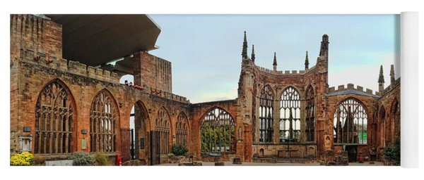 Coventry Cathedral Ruins Panorama Yoga Mat