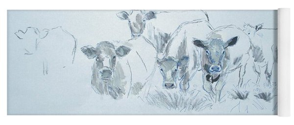 Cow Drawing Yoga Mat