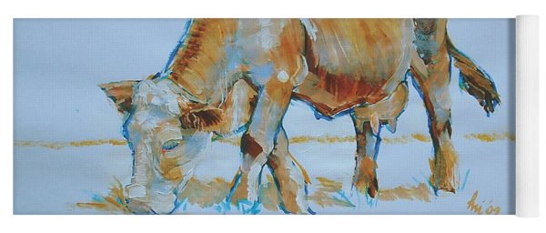 Cow Painting Yoga Mat