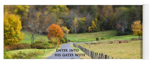 Cow Pasture With Scripture Yoga Mat