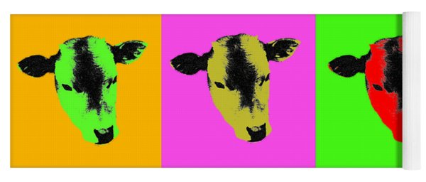 Cow Pop Art Yoga Mat