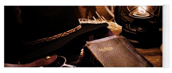 Cowboy Bible Yoga Mat