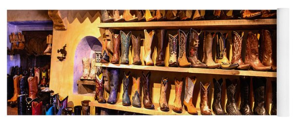 Cowboy Boots Yoga Mat