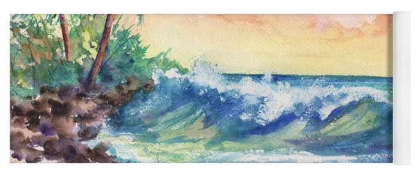 Crashing Waves At Sunrise Yoga Mat