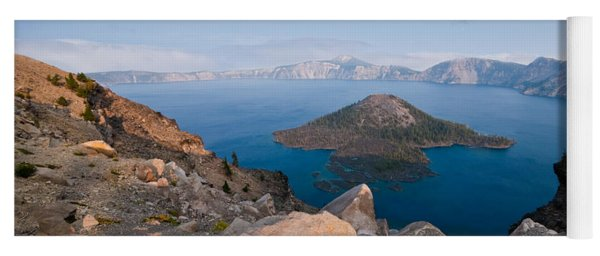 Crater Lake In The Evening Yoga Mat