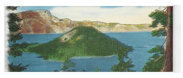 Crater Lake Postcard Yoga Mat