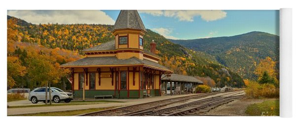 Crawford Train Depot - New Hampshite Yoga Mat