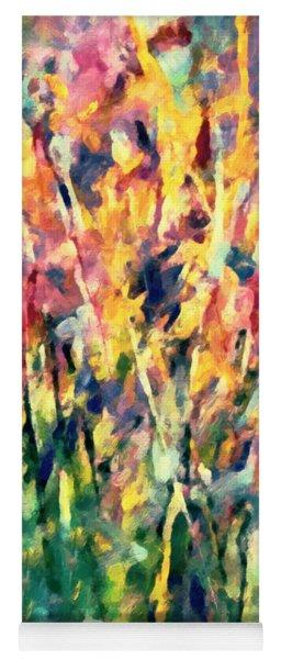 Crescendo Of Spring Abstract Yoga Mat
