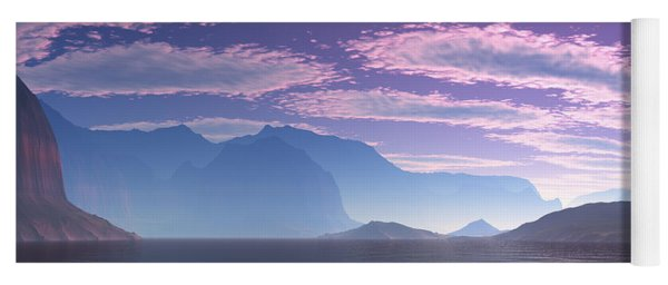 Crescent Bay Alien Landscape Yoga Mat