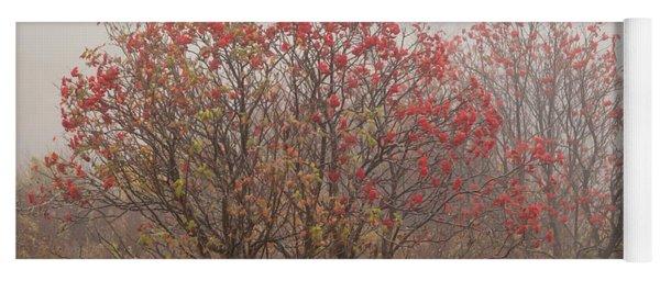 Crimson Fog Yoga Mat