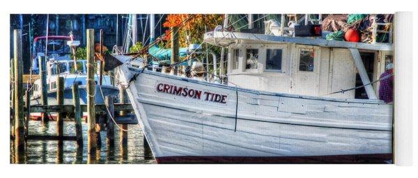 Crimson Tide In Harbor Yoga Mat