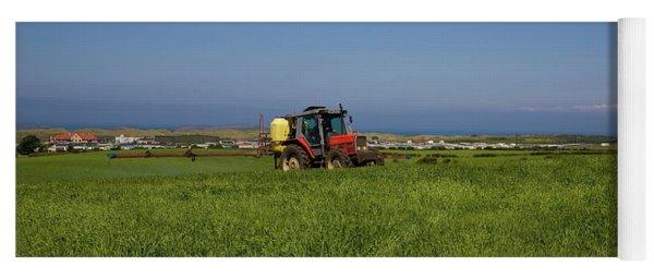 Crop Spraying Barley,near Ballintrae Yoga Mat