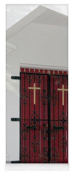 Key West Church Doors Yoga Mat