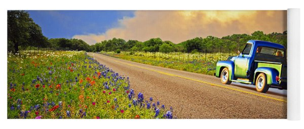 Crusin' The Hill Country In Spring Yoga Mat