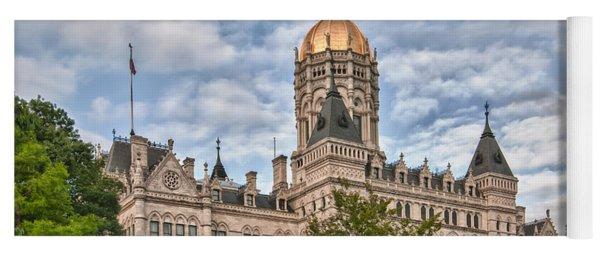 Ct State Capitol Building Yoga Mat