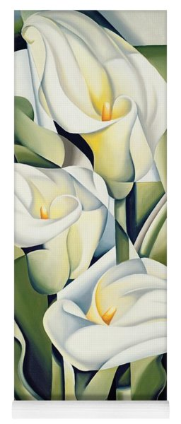 Cubist Lilies Yoga Mat