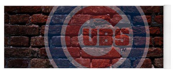 Cubs Baseball Graffiti On Brick  Yoga Mat