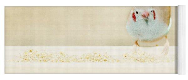 Curious Cordon Bleu Finch  Yoga Mat