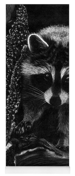 Curious Raccoon Yoga Mat