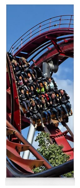 Daemonen - The Demon Rollercoaster - Tivoli Gardens - Copenhagen Yoga Mat