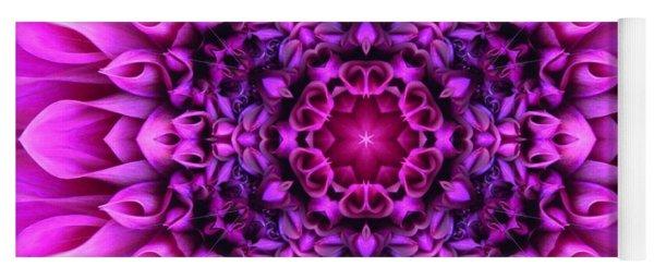 Dahlia Pink Star Mandala Yoga Mat