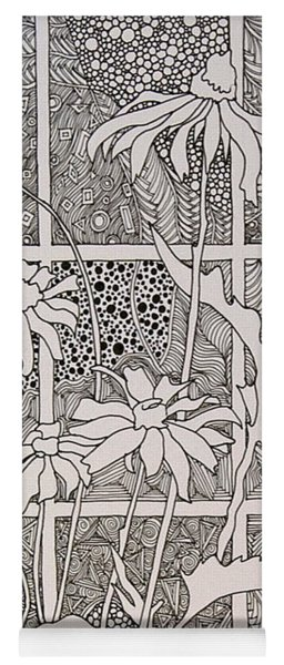 Daisies In A Window Yoga Mat