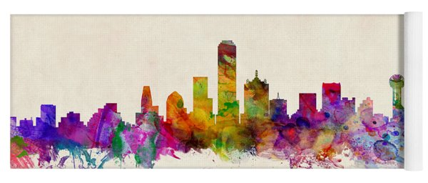 Dallas Texas Skyline Yoga Mat