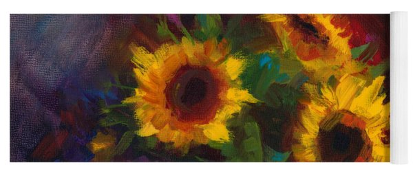 Dance With Me - Sunflower Still Life Yoga Mat