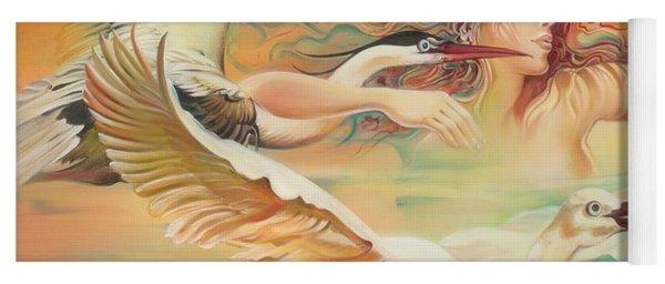 Dancing With Birds Yoga Mat