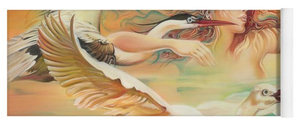 Dancing With Birds Yoga Mat