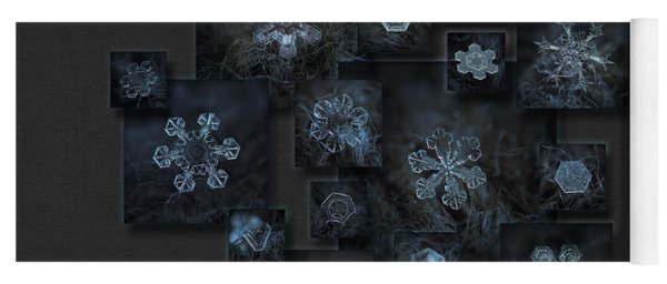 Snowflake Collage - Dark Crystals 2012-2014 Yoga Mat