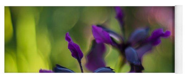 Dark Irises Yoga Mat