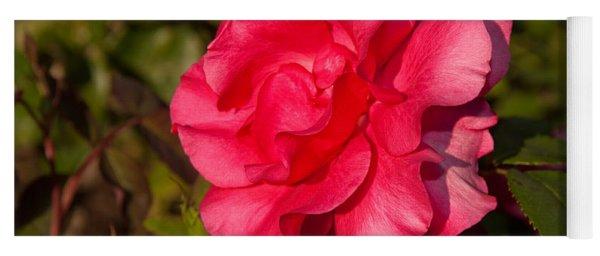 Dark Pink Rose Yoga Mat