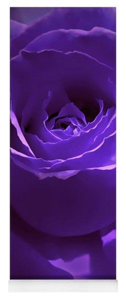 Dark Secrets Purple Rose Yoga Mat