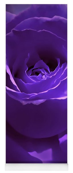 Dark Secrets Purple Rose Yoga Mat