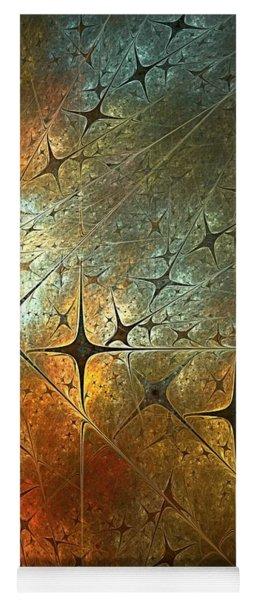 Dark Star Grid Yoga Mat