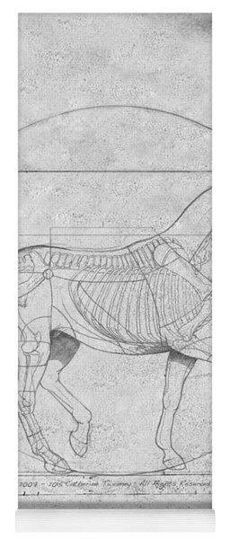 Da Vinci Horse Piaffe Grayscale Yoga Mat