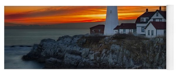Dawn At Portalnd Head Light Yoga Mat