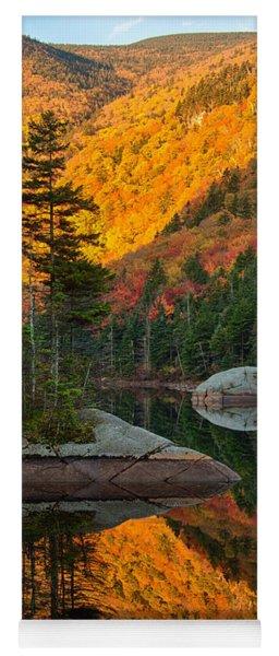 Dawns Foliage Reflection Yoga Mat