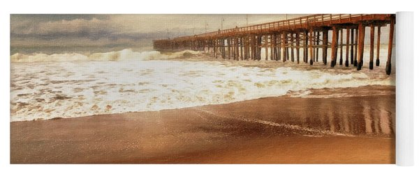 Day At The Pier Large Canvas Art, Canvas Print, Large Art, Large Wall Decor, Home Decor, Photograph Yoga Mat
