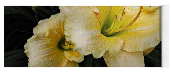 Yoga Mat featuring the photograph Day Lilies A Short Life by David Dehner