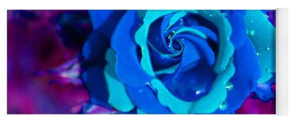 Daydreaming Blue Rose Yoga Mat