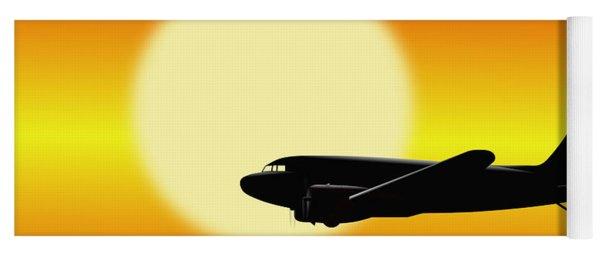 Dc-3 Passing Sun Yoga Mat